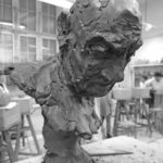 MAN'S HEAD IN CLAY